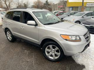 Used 2007 Hyundai Santa Fe GLS/ AWD/ LEATHER/ SUNROOF/ ALLOYS/ ROOF RACK! for sale in Scarborough, ON