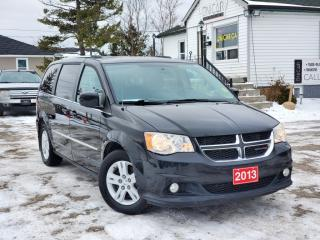 Used 2013 Dodge Grand Caravan Crew Stow'N'Go Power seats Bluetooth Backup Cam for sale in Sutton, ON