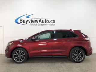 Used 2018 Ford Edge Sport - AWD! NAV! PANOROOF! HTD/COOLED 1/2 LTHR! PWR LIFTGATE! LOADED! for sale in Belleville, ON