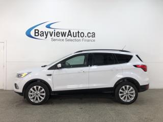 Used 2019 Ford Escape SEL - 4WD! LEATHER! PANOROOF! ALLOYS! FULL PWR GROUP! for sale in Belleville, ON