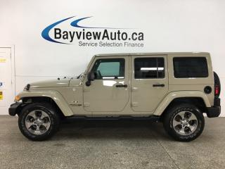 Used 2018 Jeep Wrangler JK Unlimited Sahara - 4X4! HTD LEATHER! NAV! REMOTE START! ALLOYS! for sale in Belleville, ON