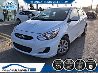Used 2017 Hyundai Accent GL AUTO BLUETOOTH, BANCS CHAUFFANTS, A/C for sale in Blainville, QC