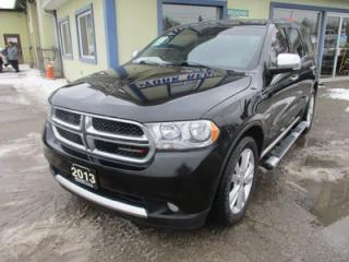 Used 2013 Dodge Durango ALL-WHEEL DRIVE CREW EDITION 7 PASSENGER 3.6L - V6.. BENCH & THIRD ROW.. NAVIGATION.. SUNROOF.. BACK-UP CAMERA.. LEATHER.. HEATED SEATS.. for sale in Bradford, ON