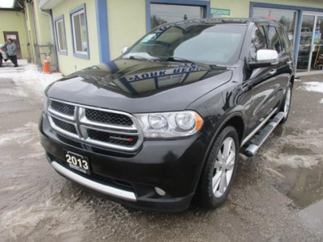 2013 Dodge Durango ALL-WHEEL DRIVE CREW EDITION 7 PASSENGER 3.6L - V6.. BENCH & THIRD ROW.. NAVIGATION.. SUNROOF.. BACK-UP CAMERA.. LEATHER.. HEATED SEATS..