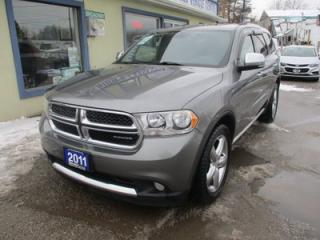 Used 2011 Dodge Durango ALL-WHEEL DRIVE CREW EDITION 7 PASSENGER 3.6L - V6.. BENCH & THIRD ROW.. NAVIGATION.. SUNROOF.. BACK-UP CAMERA.. LEATHER.. HEATED SEATS.. for sale in Bradford, ON