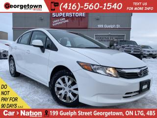 Used 2012 Honda Civic LX | ECO MODE | BLUETOOTH | ONLY 84,759KMS for sale in Georgetown, ON