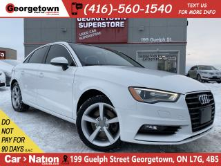Used 2016 Audi A3 1.8T KOMFORT | LEATHER | SUNROOF | HEATED SEATS for sale in Georgetown, ON