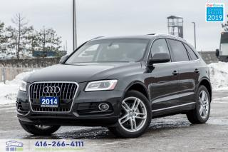 Used 2014 Audi Q5 Premium+NaviRCamRoof CleanCarfax Certified Finance for sale in Bolton, ON