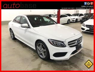 Used 2017 Mercedes-Benz C-Class C300 4MATIC PREMIUM PLUS SPORT LED 360 CLEAN CARFAX RED INT! for sale in Vaughan, ON