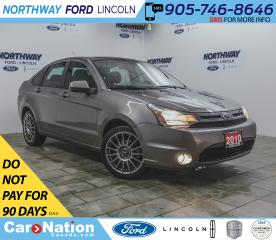 Used 2010 Ford Focus SES | HTD LEATHER | SUNROOF | USB+AUX | LUX PKG | for sale in Brantford, ON