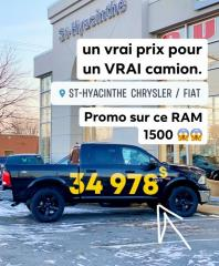 Used 2018 RAM 1500 OUTDOORSMAN CREW V8 HEMI 4X4 CAMERA MAGS NOIRS for sale in St-Hyacinthe, QC