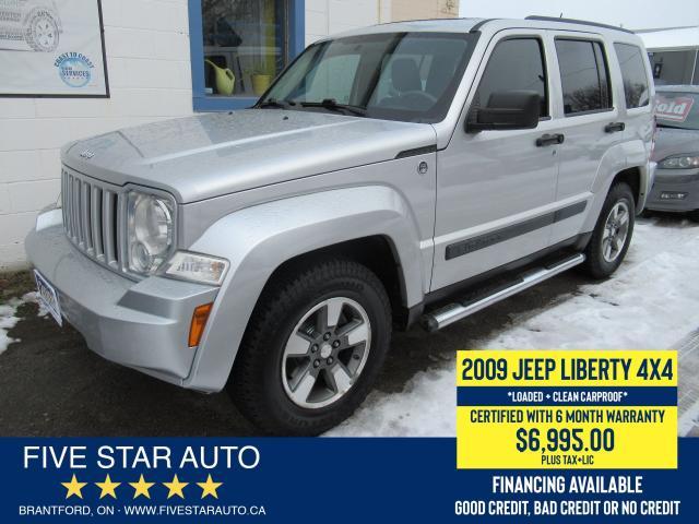 2009 Jeep Liberty Sport *Clean Carproof* Certified, 6 Month Warranty