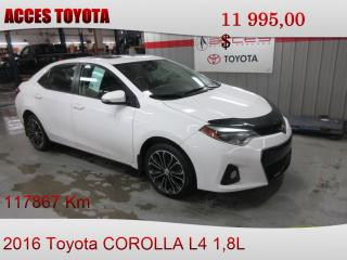 Used 2016 Toyota Corolla MANUEL for sale in Rouyn-Noranda, QC