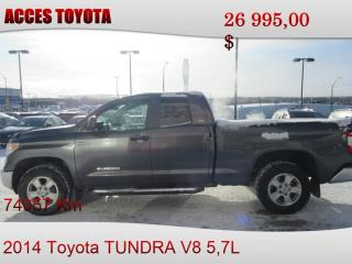 Used 2014 Toyota Tundra 4X4 DOUBLE CAB for sale in Rouyn-Noranda, QC