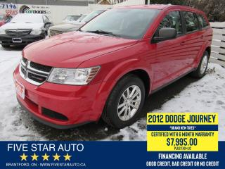 Used 2012 Dodge Journey CVP - Certified w/ 6 Month Warranty for sale in Brantford, ON