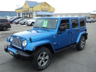 Used 2016 Jeep Wrangler Sahara Unlimited 3.6L 4x4 Nav HeatedSeats for sale in Brantford, ON