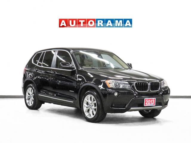 2013 BMW X3 4WD Navigation Leather Panoramic Sunroof