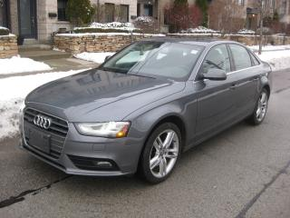 Used 2013 Audi A4 PREMIUM, NAVI, SUNROOF, NO ACCIDENTS, CERTIFIED for sale in Toronto, ON