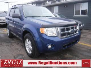 Used 2008 Ford Escape XLT 4D Utility AWD for sale in Calgary, AB