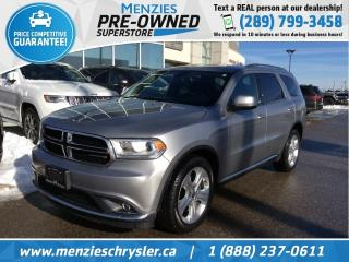 Used 2014 Dodge Durango SXT AWD, Bluetooth, Streaming Audio, Clean Carfax for sale in Whitby, ON