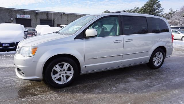 2011 Dodge Grand Caravan CREW STOW&GO CERTIFIED 2YR WARRANTY *FREE ACCIDENT* SUNROOF BLUETOOTH HEATED STEERING AND SEATS