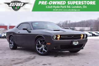 Used 2018 Dodge Challenger SXT - Almost New, Ventilated Seats, Well Equipped, for sale in London, ON