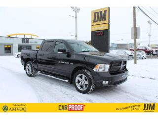 Used 2011 RAM 1500 CREW 4X4 SPORT  CUIR  CAMÉRA   SIÈGES CHAUFFANTS for sale in Salaberry-de-Valleyfield, QC