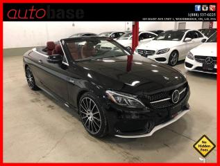 Used 2017 Mercedes-Benz C-Class C43 AMG 4MATIC HUD DISTRONIC PREMIUM AMG DRIVER RED INT! for sale in Vaughan, ON