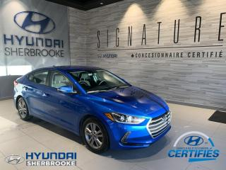 Used 2017 Hyundai Elantra GL+CAMERA+DÉMARREUR+ANGLES-MORTS+CRUISE for sale in Sherbrooke, QC