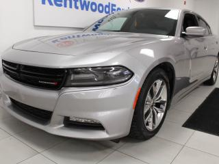 Used 2016 Dodge Charger SXT RWD with NAV, sunroof, heated/cooled power leather seats, heated steering wheel, heated rear seats and a back up cam for sale in Edmonton, AB