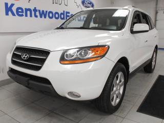 Used 2009 Hyundai Santa Fe Limited AWD with a sunroof and heated power leather seats for sale in Edmonton, AB