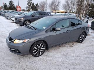 Used 2013 Honda Civic Sdn TOURING; LEATHER SUNROOF, NAVI, BACKUP CAMERA, BLUETOOTH AND MORE for sale in Edmonton, AB