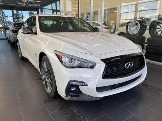 New 2020 Infiniti Q50 EXECUTIVE DEMO I-LINE RED SPORT ProACTIVE for sale in Edmonton, AB