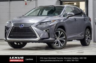 Used 2016 Lexus RX 450h EXECUTIVE AWD; CUIR TOIT / CAMERA PANO GPS AUDIO HYBRIDE - TOIT PANORAMIQUE - CAMERA PANORAMIQUE - AFFICHAGE TÊTE HAUTE - AUDIO PREMIUM MARK LEVINSON for sale in Lachine, QC