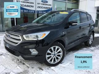 Used 2018 Ford Escape Titanium AWD CUIR TOIT GPS CERTIFIÉ FORD for sale in St-Georges, QC