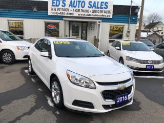 Used 2016 Chevrolet Malibu LT, NO ACCIDENTS, BACK-UP-CAMERA, Leather for sale in St Catharines, ON