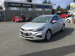 Used 2018 Chevrolet Cruze PREMIER- Keyless Ignition heated seats back up camera for sale in Victoria, BC