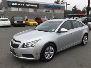 Used 2013 Chevrolet Cruze LT - Bluetooth LCD Touch Screen USB Port for sale in Victoria, BC