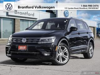Used 2019 Volkswagen Tiguan Highline 2.0T 8sp at w/Tip 4M for sale in Brantford, ON