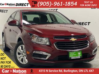 Used 2015 Chevrolet Cruze 1LT| BACK UP CAMERA| WE WANT YOUR TRADE| for sale in Burlington, ON