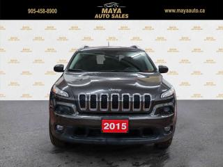 Used 2015 Jeep Cherokee North 4WD Panoroof, camera, 4x4 for sale in Brampton, ON