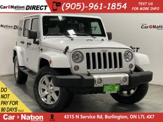 Used 2018 Jeep Wrangler JK Unlimited Sahara| 4X4| LEATHER| NAVI| HARD TOP| BACK UP CAM| for sale in Burlington, ON