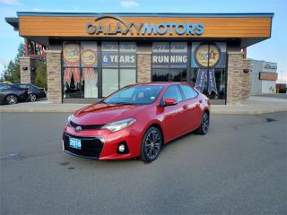 Used 2016 Toyota Corolla S - Paddle Shifters, Black Leather Interior, Heated Front Seats for sale in Courtenay, BC