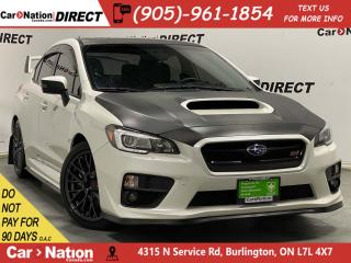 Used 2016 Subaru WRX STI| AWD| LEATHER-TRIMMED SEATS| SUNROOF| for sale in Burlington, ON