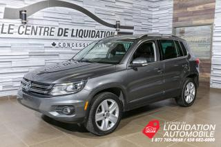 Used 2016 Volkswagen Tiguan AWD+COMFORTLINE+CUIR+TOIT+MAGS+CAMERA DE RECUL for sale in Laval, QC