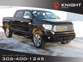 Used 2014 Toyota Tundra Platinum 4WD | Leather Heated/Cooled Seats | Sunroof | NAV | Back-up Camera | Bluetooth for sale in Weyburn, SK