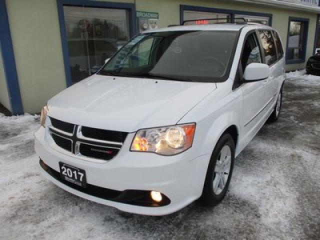 2017 Dodge Grand Caravan FAMILY MOVING CREW EDITION 7 PASSENGER 3.6L - V6.. CAPTAINS.. STOW-N-GO.. POWER DOORS & WINDOWS.. BACK-UP CAMERA.. LEATHER.. HEATED SEATS..