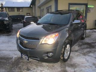 Used 2013 Chevrolet Equinox ALL-WHEEL DRIVE LTZ EDITION 5 PASSENGER 2.4L - ECO-TEC.. LEATHER.. HEATED SEATS.. BACK-UP CAMERA.. TOUCH SCREEN DISPLAY.. BLUETOOTH.. for sale in Bradford, ON