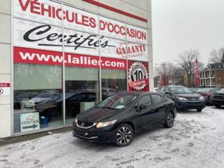 Used 2013 Honda Civic EX**AUTOMATIQUE**TOIT**MAGS**CAM DE RECUL 90 JOURS SANS PAIEMENTS (DÉTAILS EN CONCESSION) for sale in Montreal, QC