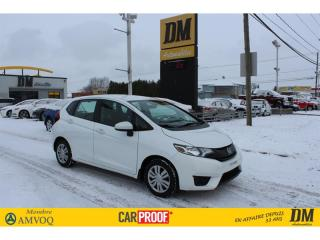 Used 2016 Honda Fit LX CAMÉRA BLUETOOTH SIÈGES CHAUFFANTS for sale in Salaberry-de-Valleyfield, QC